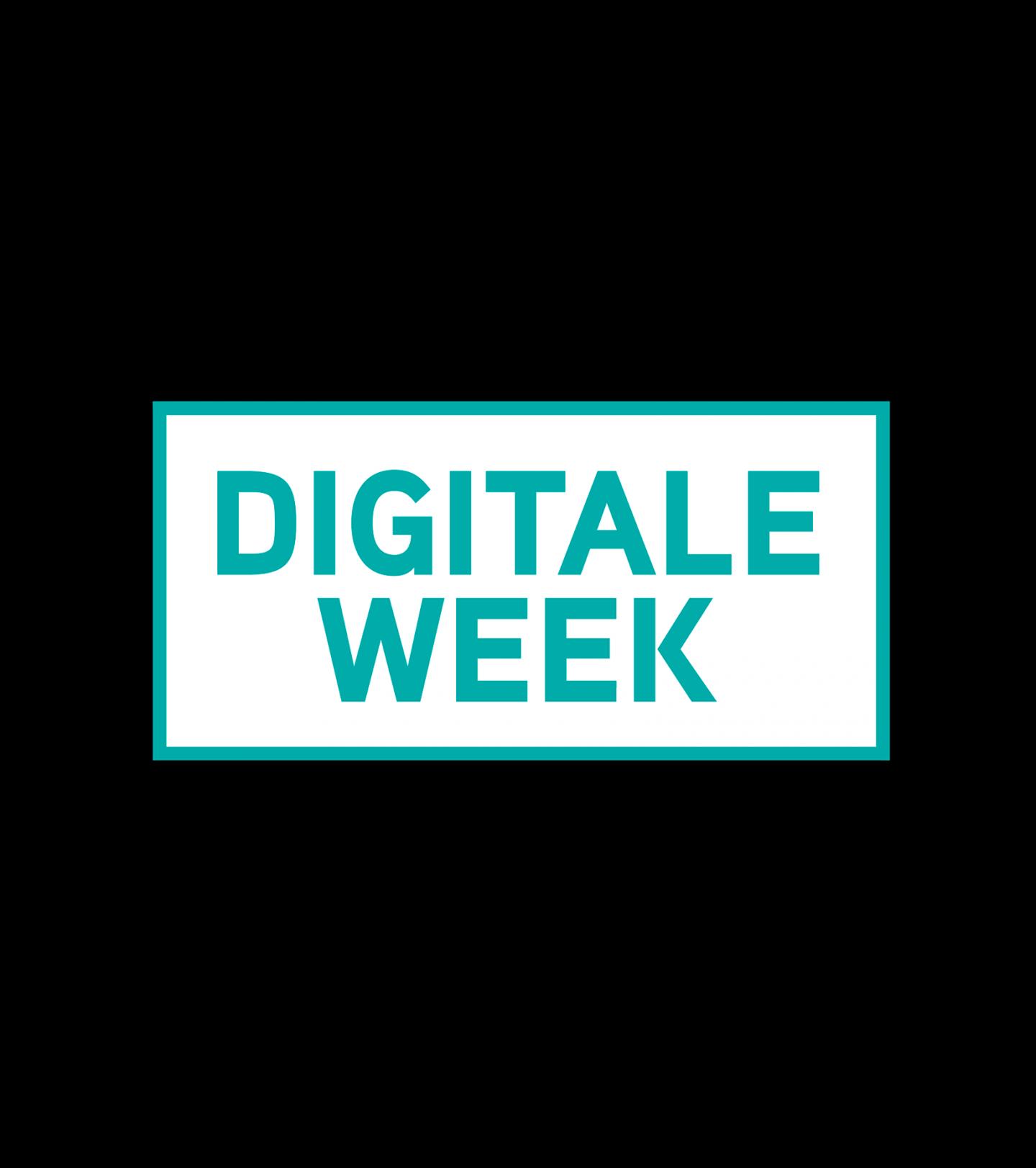 Het logo van Digitale Week