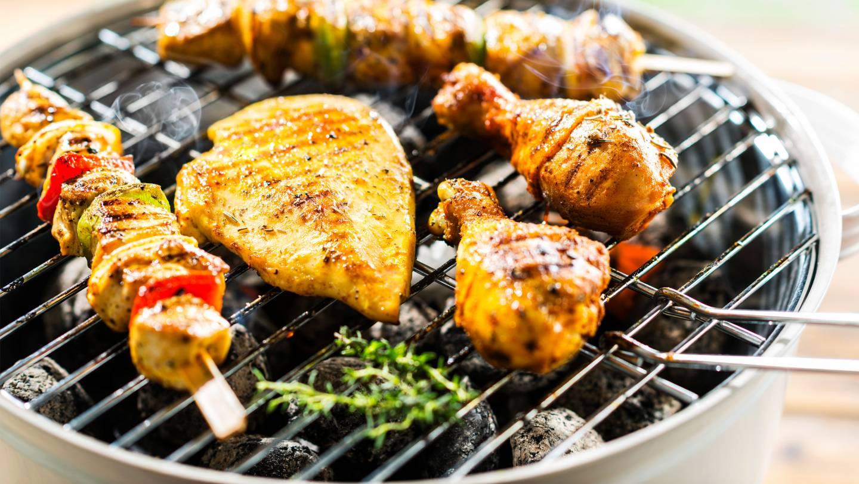 Barbecue met gevogelte