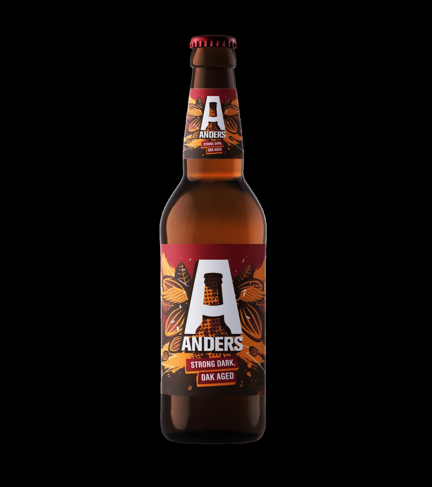 Mockup voorkant Bier Anders etiket