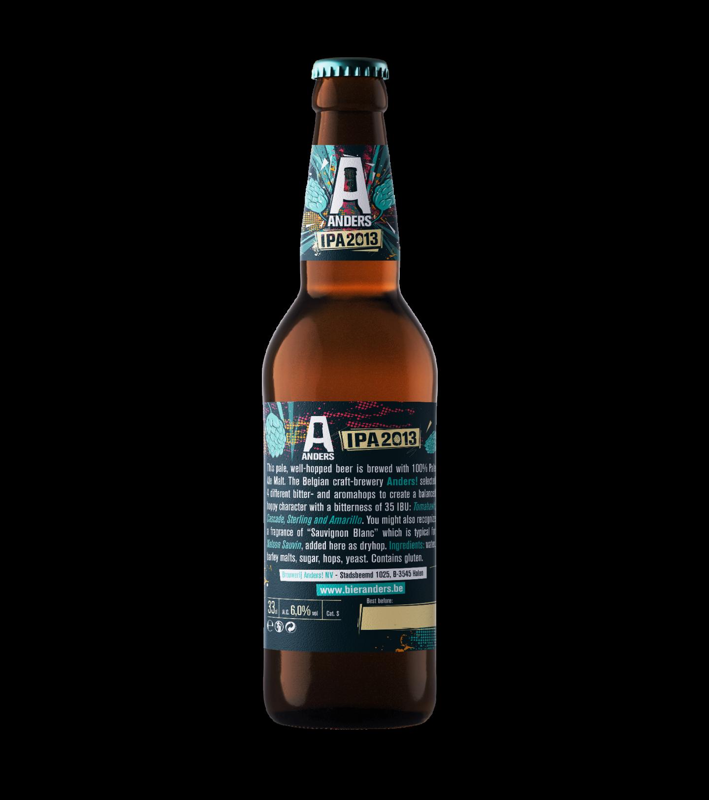 Mockup achterkant Bier Anders etiket