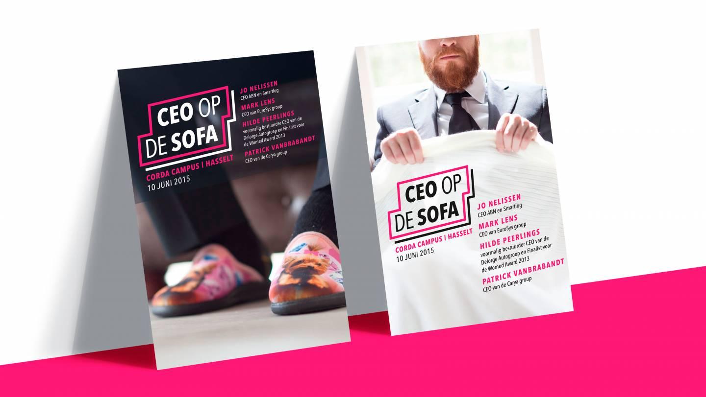 Mockup van twee posters voor het event van CEO op de Sofa