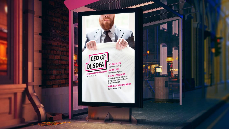 reclamepaneel CEO op de sofa