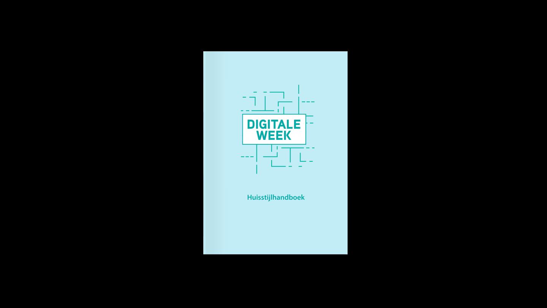 Mockup van de cover van het huisstijlhandboek voor de Digitale Week