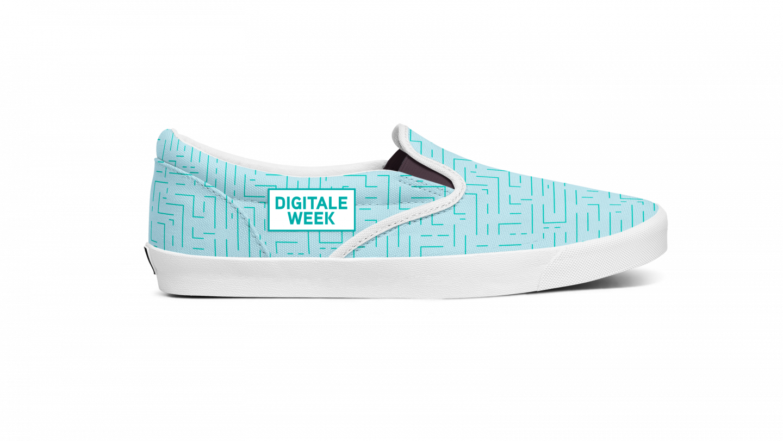Afbeelding van pantoffels als merchandise voor de Digitale Week