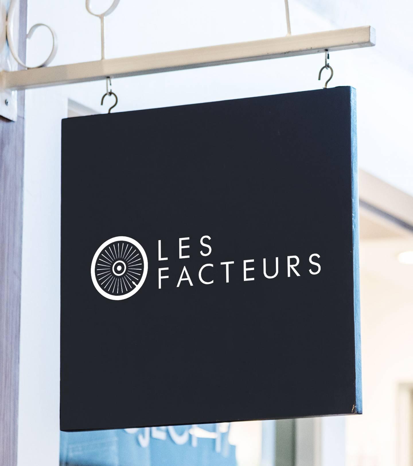Mockup store sign Les Facteurs