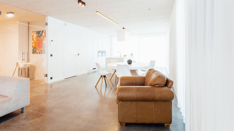 Foto van het interieur binnenin een SkilPod
