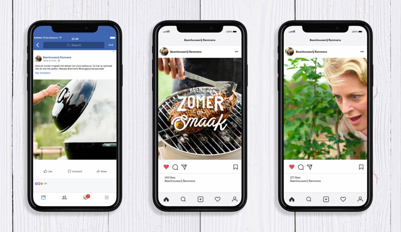iPhone mockups Instagram campagne Breng je zomer op smaak