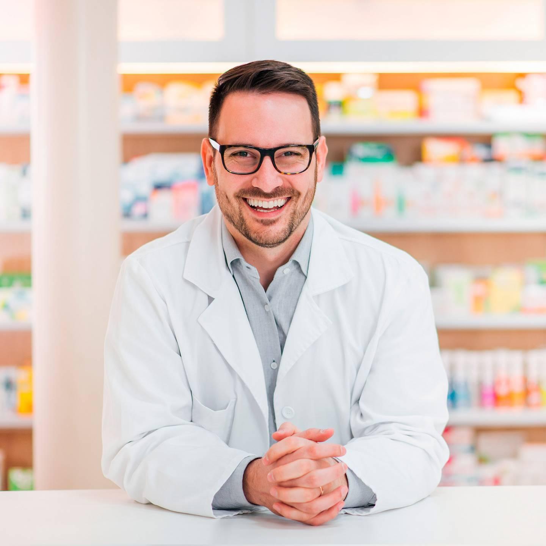 Foto van een apotheker