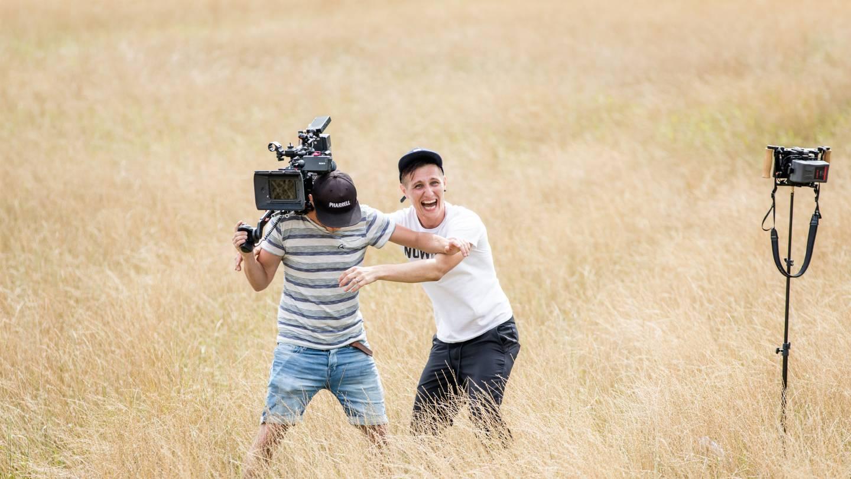Filmen in de velden