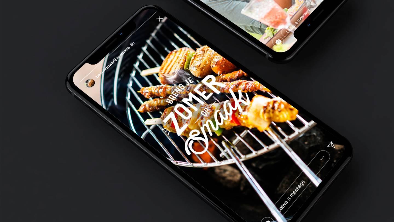 iPhone mockup Breng je zomer op smaak campagne