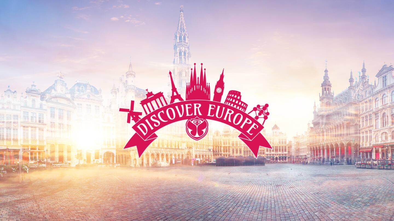 NVandersom | Communicatiebureau Limburg | Campagnevisual met het Discover Europe logo